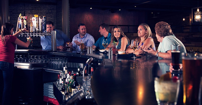 bar inside Forklift & Palate restaurant