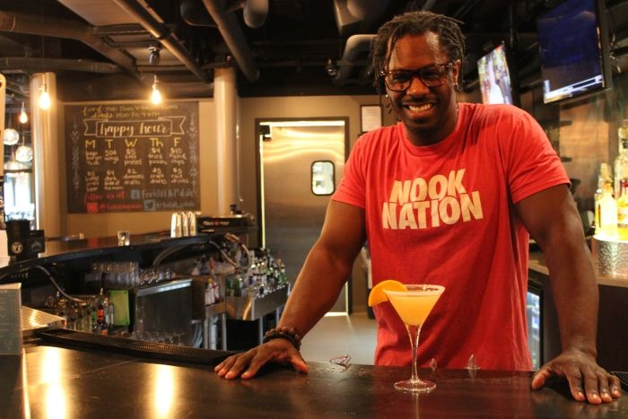 bartender at Forklift & Palate