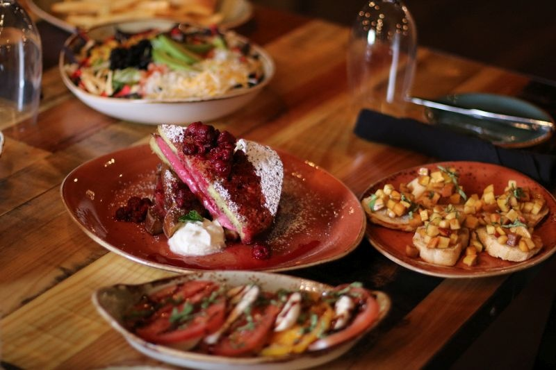 delicious entrees at Forklift & Palate